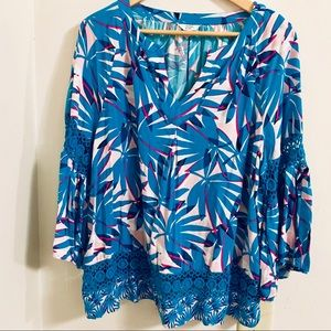 Crown & Ivy Bright Colors Top Cut Outs Size XL